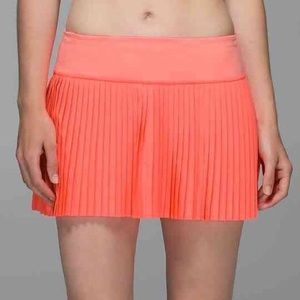 {Lululemon} Pleat to Street Skirt II Grapefruit